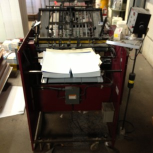 Hand Feed With Final Fold Best Graphics Bindery