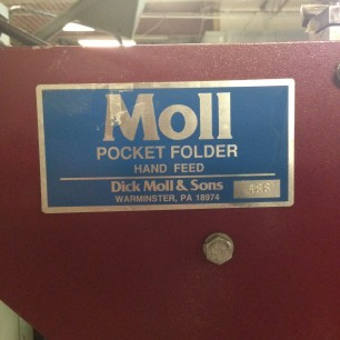 Dick Moll Folder Gluer