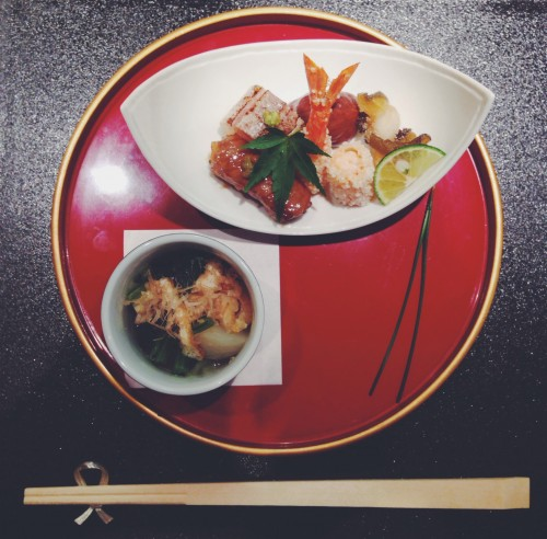 Sushi and Miso Soup at Minato