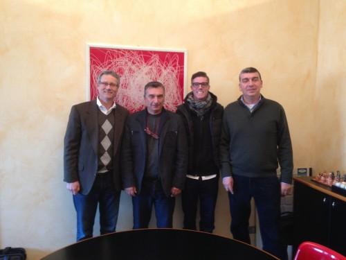 L to R: Dan Brahm, Roberto Zechini, A.J. Brahm, Fulvio Zechini