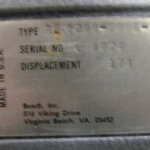 Busch RC 0250B Vacuum Pump