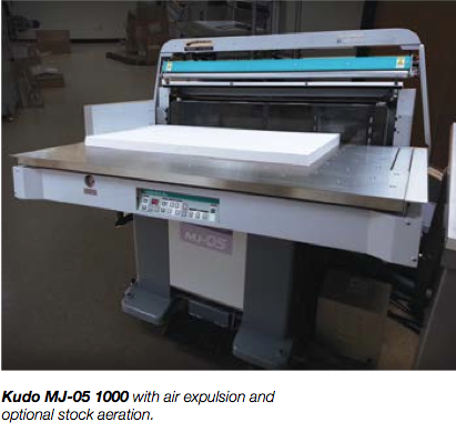 Kudo MJ-05 1000 with air expulsion and optional stock aeration.
