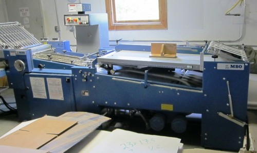 MBO B21C Continuous Feed Folder