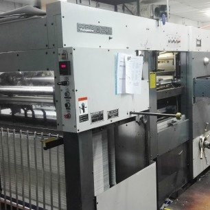 Bobst SP 102 E 28 x 40 Die Cutter with Stripping
