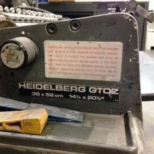 Heidelberg GTOZ Press